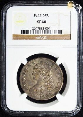 1833 O-109 Capped Bust Half Dollar NGC XF40 Extra Fine Overton Variety Early US