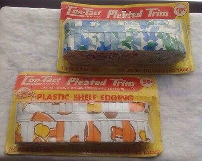 Vintage Con-Tact Brand Pleated Plastic Shelf Edging/Trim
