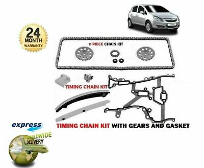 For Vauxhall Corsa D 1.0 1.2 1.4 2006--> Timing Cam Chain Kit + Gears + Gasket