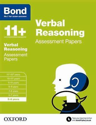 Bond 11+: Verbal Reasoning: Assessment Papers: 5-6 Years by Bond (Paperback,...