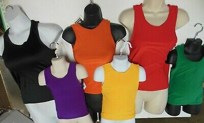 NWT Boys Mens Dance Tank Top Matte Spandex Many Colors 79685 Muscle shirt