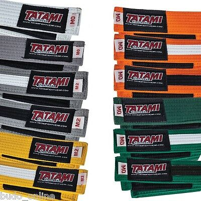 Tatami IBJJF Kids BJJ Belt Childrens Jiu Jitsu White Grey Yellow Orange Green