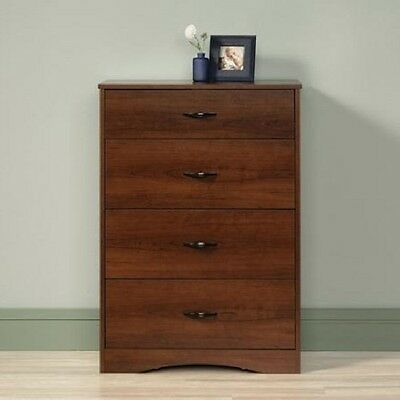 4 Drawer Chest of Drawers Dresser Cherry Bedroom Furniture Traditional look NEW