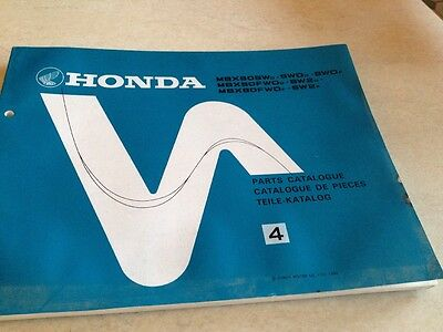 Honda part list MBX80 MBX 80  édition 4 1984
