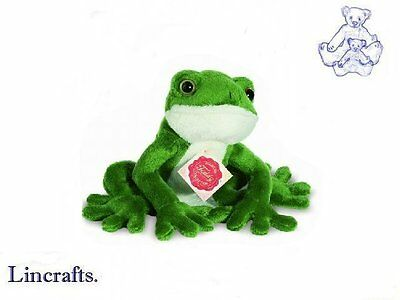 Sitting Frog Plush Soft Toy by Teddy Hermann Collection 92020