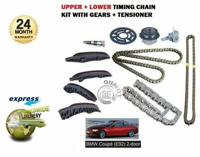 FOR BMW E92 COUPE 320D 325D 330D xDRIVE 2007> UPPER + LOWER TIMING CHAIN KIT SET