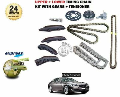 For Bmw 5 F10 F11 520D 525D 4 Cyl 2010-2013 Upper + Lower Timing Chain Kit Set