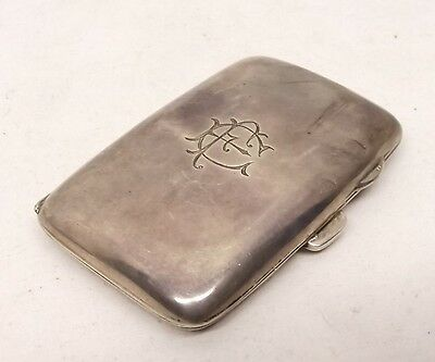 Antique Sterling Silver Small Cigarette Holder Case Signed 305R 46.3 Gram 19thc