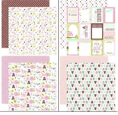 Echo Park Bundle Of Joy Girl 1x Scrappapier verschiedene Motive Baby 30,5x30,5cm