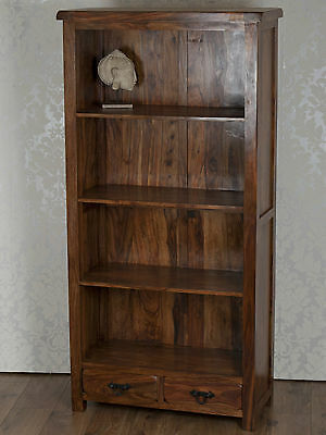 Valencia Solid Sheesham Rosewood Open Bookcase Display Cabinet