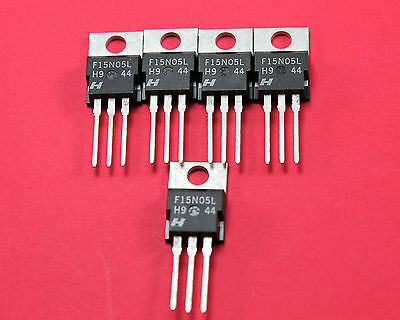 RFP15N05L N-Channel Power Logic Level MOSFET 50V/15A, TO-220, 5pcs