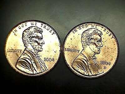 2004 P D Lincoln Memorial Cent Penny BU Brilliant Uncirculated Set From Rolls