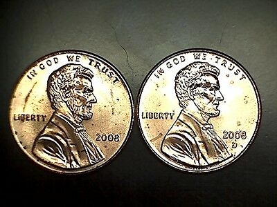 2008 P D Lincoln Memorial Cent Penny BU Brilliant Uncirculated Set From Rolls