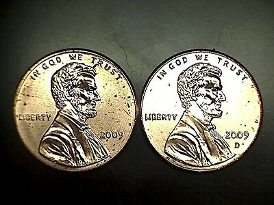 2009 P D Bicentennial Lincoln Cent Penny Set Brilliant Uncirculated From Rolls