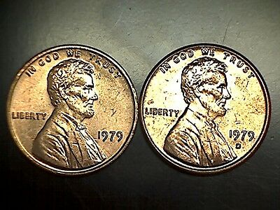 1979 PD Lincoln Memorial Cent Penny Set Brilliant Uncirculated From Rolls