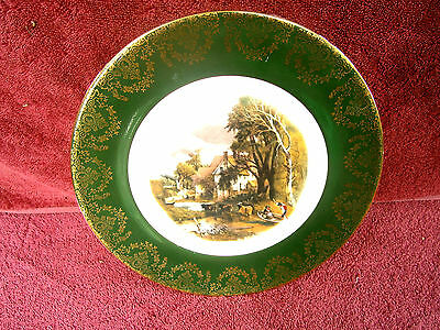 Vintage  Rural Scene   English    Porcelain   Plate