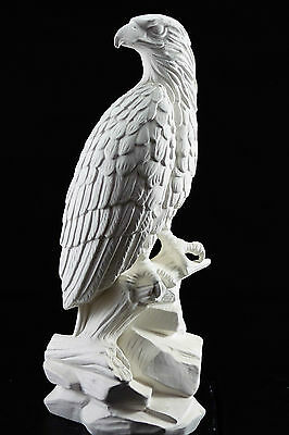 Ready to paint ceramic bisque - Eagle Sitting on Rocks 34 cm tall Ornament