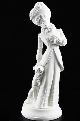 Ready to paint ceramic bisque - Victorian Lady with Dog  34 cm tall Ornament