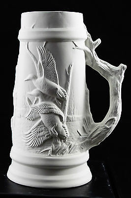 Ready to paint ceramic bisque - Collectible tankard with Duck  22 cm tall