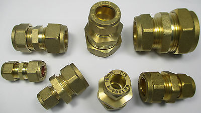 BRASS COMPRESSION FITTINGS REDUCING COUPLER COUPLING 8 10 12 15 22 28 mm REDUCER