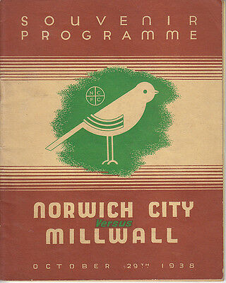 1938/39 Norwich v Millwall (Attended by King George VI)