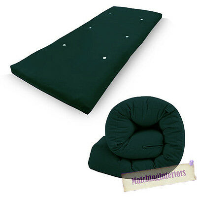 Green Budget Single Futon Sofabed Replacement Roll Up Folding Sleeping Mattress