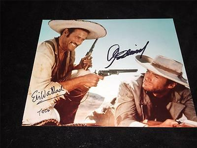 Clint Eastwood Eli Wallach Signed 8x10 photo The Good The Bad The Ugly Proof