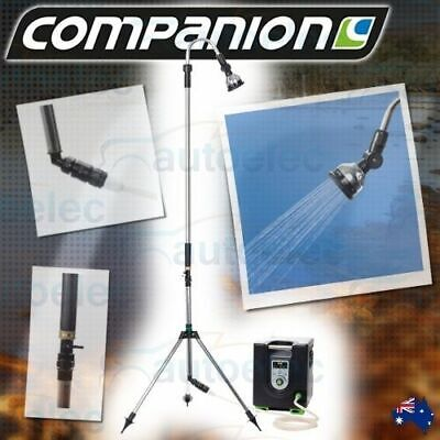 Companion Garden Hose Outdoor Shower Head & Stand Portable Camping Pool Comp824