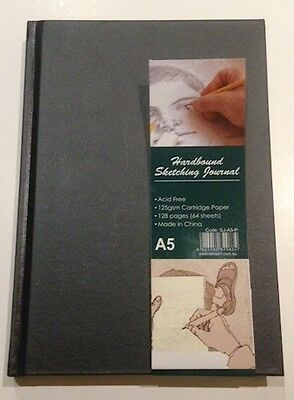 Sketch Book A5 Hard Bound JOURNAL H/W ACID FREE FOR PASTEL PENCIL CHARCOAL,