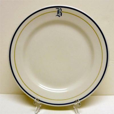 "Shenango China ""tb"" Blue Border Line New Castle Pa Usa Plate Sz-9"" In Diameter"