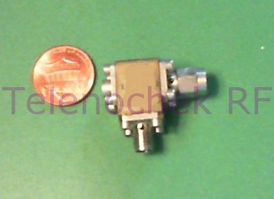 RF microwave single junction isolator 12.0 - 25.3 GHz isolator,  2 Watt / data