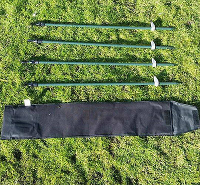 NEW* Extendable Hide Poles Twist Lock Set Of 4 With Carry Bag / Pigeon Shooting