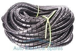WIRING LOOM protection spiral cable binding 5mm - 15mm x 1mt