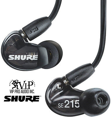 Shure SE215-k Sound Isolating In-Ear Headphones Earphones enhanced bass -DEALER-