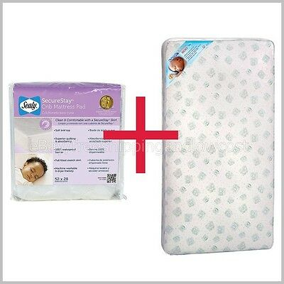 Toddler Mattress Pad Baby Bed Set Kolcraft - SnugFit Sealy Crib Pediatric NEW