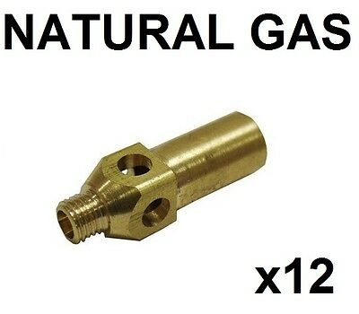 Pack Of 12 Replacement Natural Gas Jet Nozzle Tips For Jet Burner, Burners