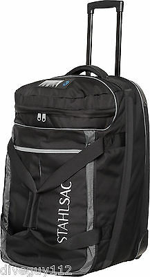 Stahlsac Jamaican Smuggler Scuba Diving Roller Travel Gear Bag Gray