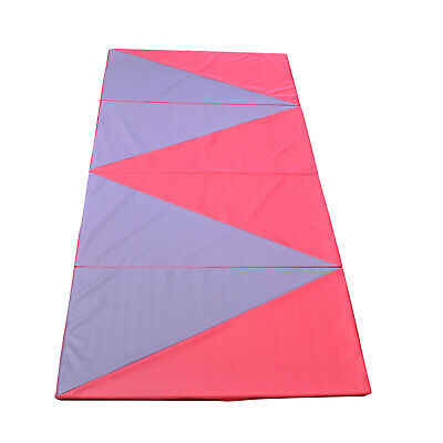Super Large 300cm x 120cm Pink / Black Gymnastics Folding Gym Yoga Exercise Mat