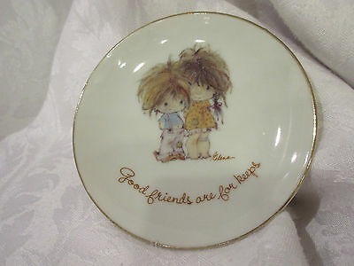 """Lasting Treasures Genuine Porcelain 4"""" Plate """"Good friends are for keeps"""""""