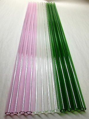 GLASS BLOWING LAMPWORK TUBING BORO PYREX MULTI COLOR 12MM X 2MM 12 TUBES 24 FT