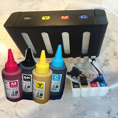 CISS Sublimation  Kit Fits Epson WF-7610 WF-7620 4x100ml Bottles Ink Included