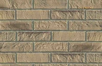 BRICK SLIPS CLADDING WALL TILES FLEXIBLE (Pack of 52) 1 Sqm - BEIGE BRICK