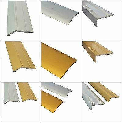 Self Adhesive Carpet Metal Cover Strips -  Door Bar - Thresholds - Stickdown