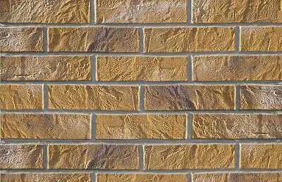BRICK SLIPS CLADDING WALL TILES FLEXIBLE (Pack of 52) 1 Sqm - YELLOW BRICK
