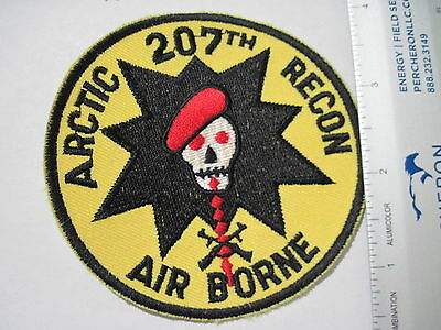 US Army 207th Airborne Infantry Arctic Recon ALaska ARNG  Patch excellent