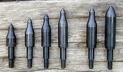 Screw In Field Points for Arrows - ALL WEIGHTS Choose 75 thru 300 gr - NEW 6 pk!