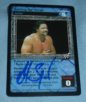 Al Snow Signed 2002 Comic Images Raw Deal WWF WWE Card Wrestling Autograph Head