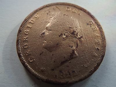 George IV Penny 1825 Gilded (6535)