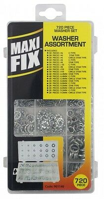720Pc Assorted Washer Set With Case Metric C-Type Star Type Circle Star Type