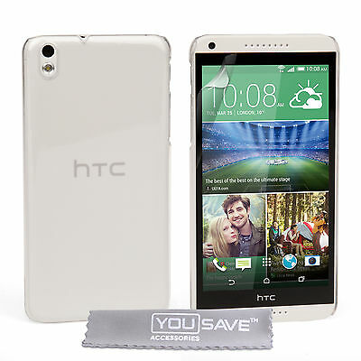 Tough Hard Plastic Shock Proof Crystal Clear Case Cover for The HTC Desire 816